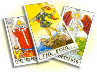 tre carte dei tarocchi